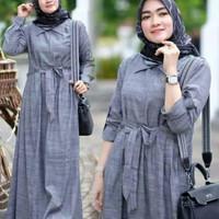 Baju Gamis Maxi Sefe Elegant - Gray