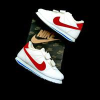 Sepatu Anak Kids Nike Cortez Classic White Red Unisex