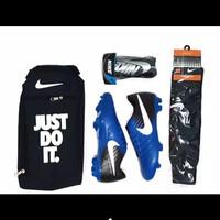 sepatu bola paket murah- sepatu bola nike murah - sepatu bola komplit - sepatu aja biru, 39