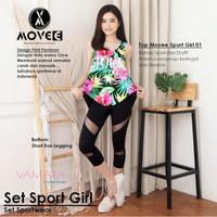 Top Legging Sport Girl Setelan Senam Yoga Gym Zumba Fitness Aerobic
