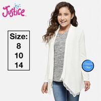 Justice Cardigan Anak Perempuan White Long Sleeve Branded Original - 8