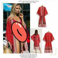 outer panjang jumbo merah motif pattern kimono