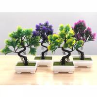 Bunga Hias MALALEUCA Artificial Pot Dekorasi Tanaman Pohon Bonsai Vas
