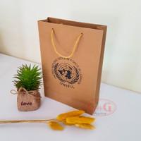 Paper Bag Kraft Tali Custom Print / Paper Bag Sablon / 16x5x24