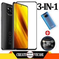 Tempered Glass Xiaomi Poco X3 NFC 2020+Skin Skin Carbon+Tg Camera