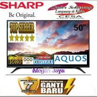 SHARP 50 inch Led TV 50AD1i Full HD DVB-T2 Digital Garansi 5 th Resmi