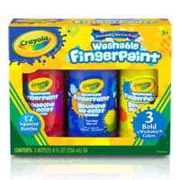 Crayola, Washable Bold Fingerpaint, Primary Colors 3 ct