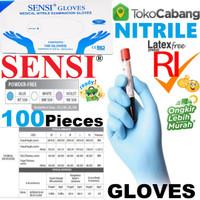 Sarung Tangan Medis NITRILE Medical Examination Gloves NON/FREE Powder