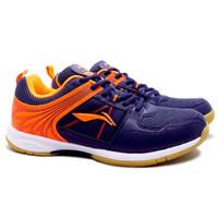Sepatu Badminton Li-Ning Attack G6 - Navy/Orange - 39
