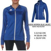 Jaket Branded Wanita - ADIDAS 10 WOMEN BLUE JACKET