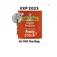 Twinings English Breakfast Tea Bags isi 100pk Original Australia