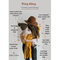 GENDONGAN BAYI RING SLING POLOS ERRO_ENZA - YELLOW