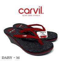 Sandal Wedges Carvil Original Model Batik - Sendal Wanita Original