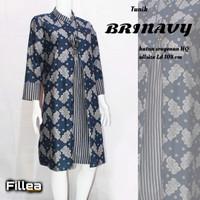 fillea Brinavy new atasan batik wanita baju kerja wanita modis murah