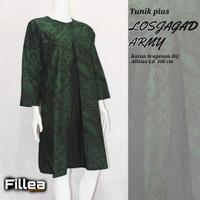 fillea Losjagat army atasan batik wanita baju kerja wanita modis murah