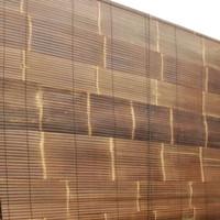 tirai krey bambu hitam vernish size L 2,5m x T 2m