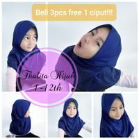 Jilbab polos anak usia 1-12 th vareasi Thalita - Putih, S