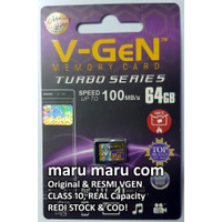 Micro SD 64GB V-gen Memory Card HP Vgen Microsd Turbo 64 GB Class 10