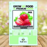 isi 50 Benih Biji Bibit Strawberry Merah Panda Farm