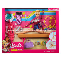 Barbie Gymnastics Doll And Playset With Twirling Feature Mainan Boneka