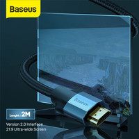 BASEUS ENJOYMENT SERIES HDMI TO HDMI 4K HD TO 4K HD ADAPTER CABLE 2M -