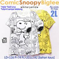 Comic Snoopy Bigtee KAOS WANITA MELAR SANTAI ADEM BIG SIZE XXL 2XL 2L