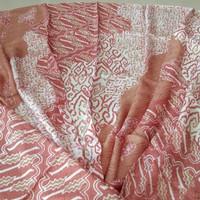 kain batik cap tulis trusmi cirebon motif pulauan bahan viscose