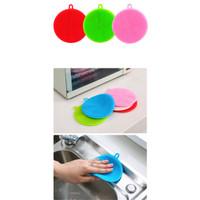 Mirai BH096 Spon Silikon Cuci Piring/Sponge Silicone Dishwashing Brush - Hijau