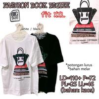 Fashion Book Bigtee KAOS WANITA MELAR TERMURAH CASUAL JUMBO XXL 2XL 2L