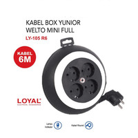YUNIOR Kabel Roll WELTO MINI 6M 10A SNI Colokan Listrik Gulung LY105R6