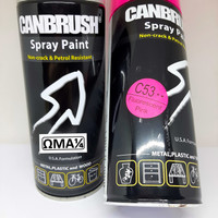 Samurai paint clear 2K01 FREE 1 pcs CANBRUSH FLUORESCENT SERIES - Merah Muda