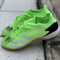 Sepatu futsal adidas original Predator 20.3 L in stabilo hitam 2020