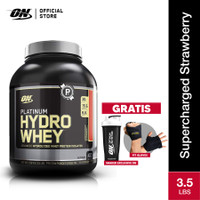 Optimum Nutrition Platinum Hydrowhey GF 3.5Lbs Supercharged Strawberry