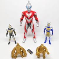 Mainan Robot Ultraman Rosso dan Monster Isi 5pcs Lampu Suara BP 9658