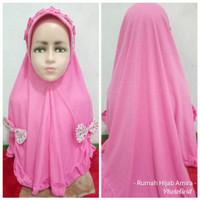 Jilbab Instan Anak Kaos Super Pita Belah Bunga