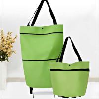 Tas belanja lipat serbaguna (Trolly Shopping Bag) - Hijau polos