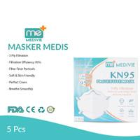Masker KN95 Protective Mask Merk Medivie 100% Termurah & Original