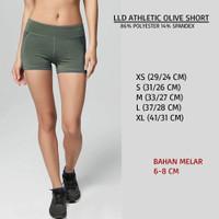 Celana Branded Wanita - LOVE LIVE DREAM ATHLETIC OLIVE SHORT