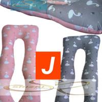bantal ibu hamil 1 set bantal dan sarung uk 120 x 80cm
