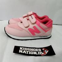 sepatu running anak perekat all pink white