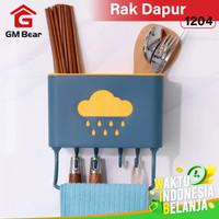 GM Bear Tempat Sendok&Garpu Peralatan Dapur Gantung 1204-Kitchen Rack