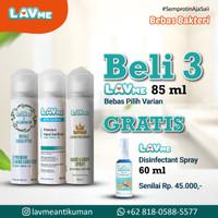 Lavme Hand & Body Spray Anti Virus 85ml - 3pcs Free Lavme 60ml