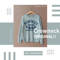 Crewneck Kentucky Original Second Branded Warna Abu Sablon Cakep