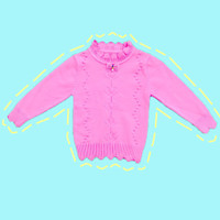 Baju Sweater Rajut Cardigan Atasan Anak Perempuan Import Real Picture2