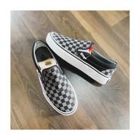 Sepatu Vans Slipon Checkerboard Pewter Original BNIB - 36
