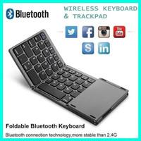 B033 Wireless Bluetooth Foldable Keyboard Touchpad Lipat 3