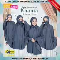 Hijab Jilbab Khimar Syari Cadar Lengan Tangan Panjang Khania 4in1