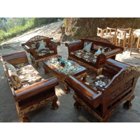Kursi sofa tamu madura kaki macan klasik ukirran jepara kayu jati