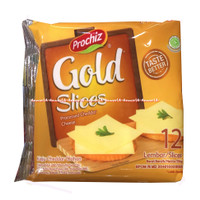 Prochiz Gold Slice Processed Cheddar Cheese 12lembar Keju Lembaran