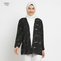 Outer BlackGranite - Emikoawa Cardigan Vest Outerwear Wanita Premium